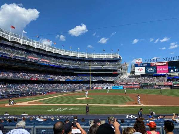 Yankee Stadium, secção: 116, fila: 6, lugar: 7