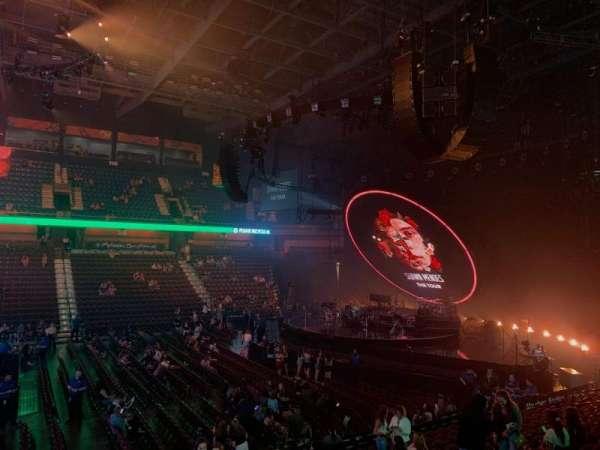 Mohegan Sun Arena, secção: 16, fila: Q, lugar: 7