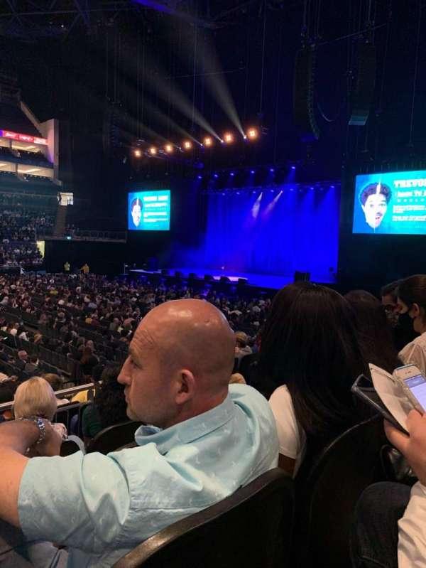 The O2 Arena, secção: 111, fila: L, lugar: 354