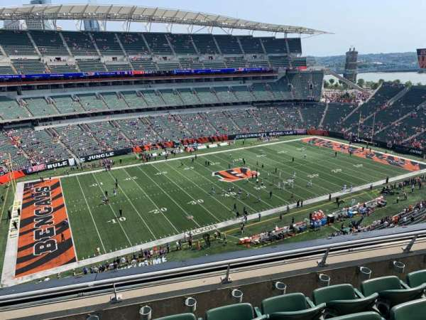 Paul Brown Stadium, secção: 314, fila: 4, lugar: 9