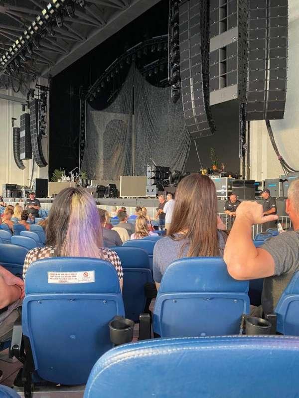 PNC Music Pavilion, secção: 1, fila: O, lugar: 10