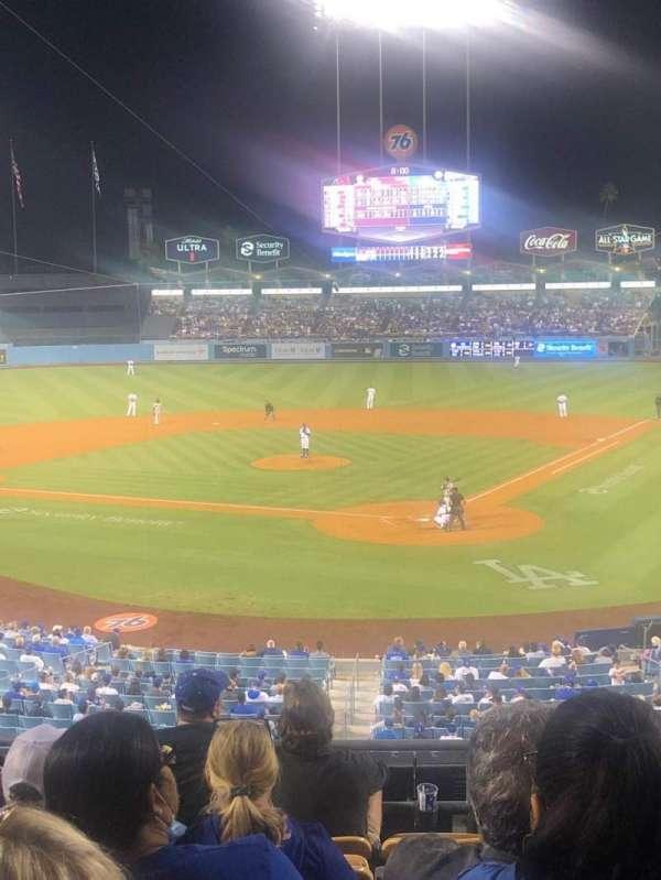 Dodger Stadium, secção: 109LG, fila: G, lugar: 3