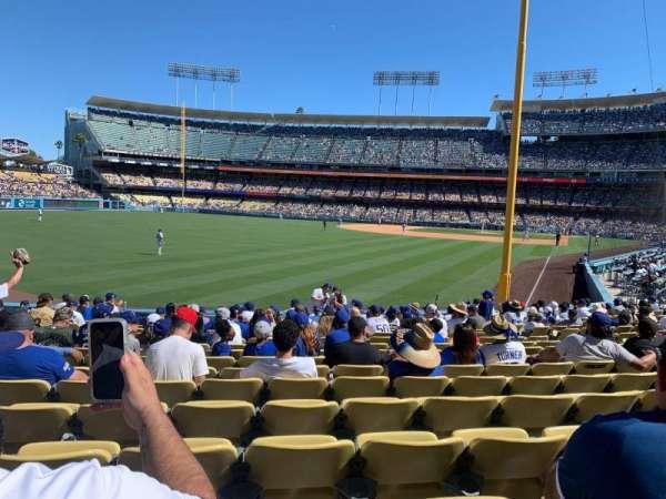 Dodger Stadium, secção: 51FD, fila: P, lugar: 14