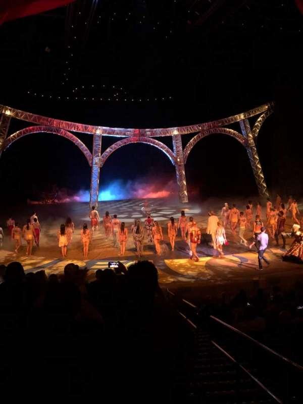 O Theatre, secção: 102, fila: K, lugar: 23