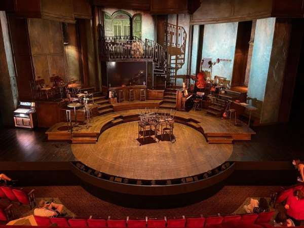 Walter Kerr Theatre, secção: Mezzanine C, fila: A, lugar: 108
