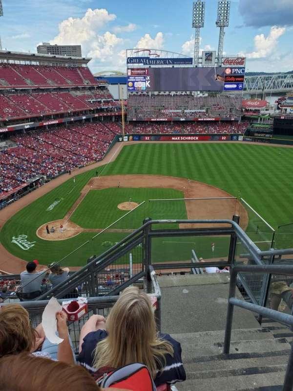 Great American Ball Park, secção: 529, fila: E, lugar: 1