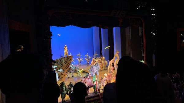 Minskoff Theatre, secção: Mezzanine, fila: DD, lugar: 11
