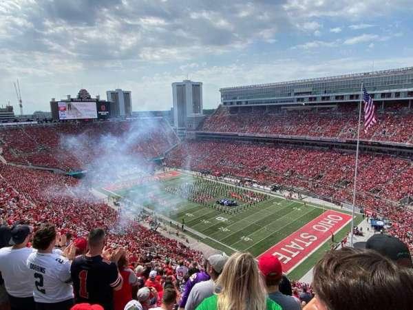 Ohio Stadium, secção: 12C, fila: 32, lugar: 19