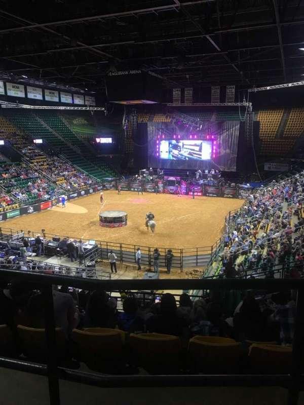 EagleBank Arena, secção: 107, fila: O, lugar: 5