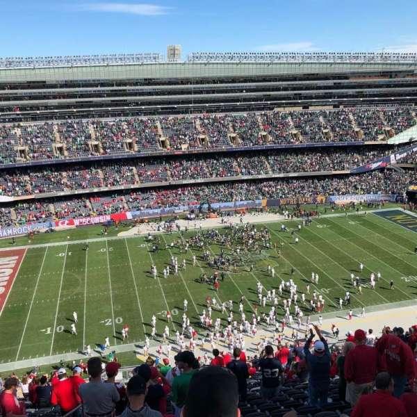 Soldier Field, secção: 439, fila: 24, lugar: 1