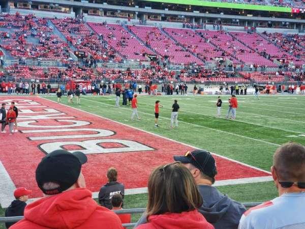Ohio Stadium, secção: 28AA, fila: 7, lugar: 18