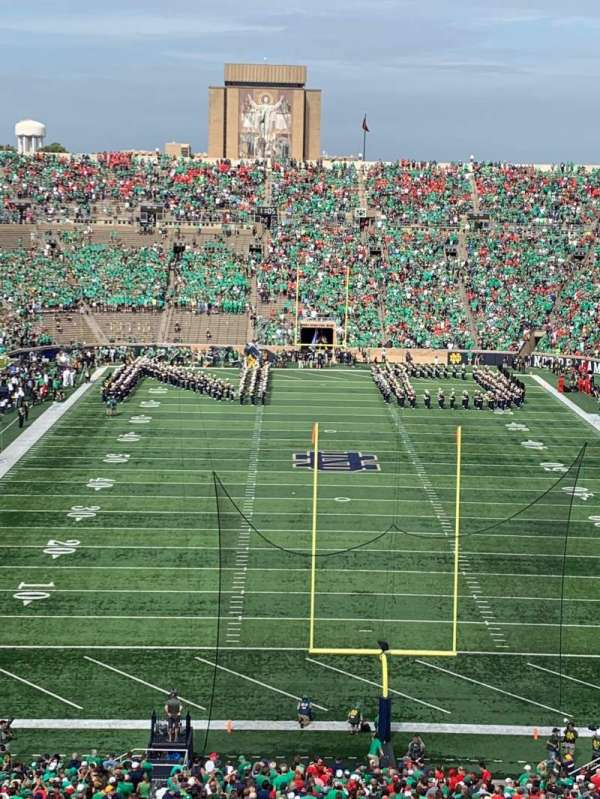Notre Dame Stadium, secção: 119, fila: 17, lugar: 24