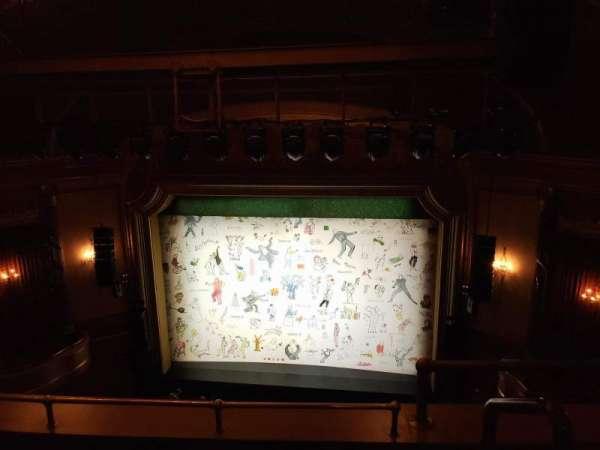 St. James Theatre, secção: Balcony C, fila: C, lugar: 101