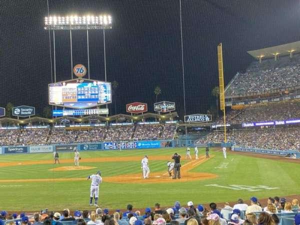 Dodger Stadium, secção: 7FD, fila: H, lugar: 1