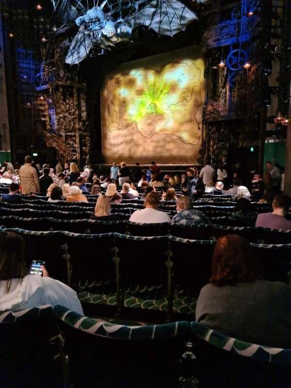 Apollo Victoria Theatre, secção: Stalls, fila: S, lugar: 2