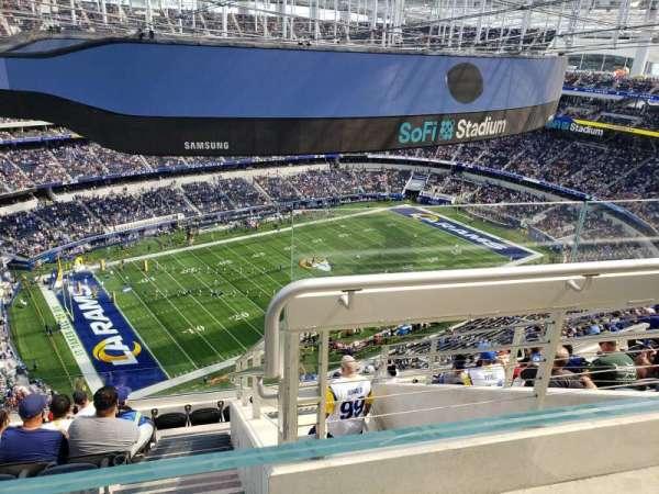 SoFi Stadium, secção: 508, fila: 9, lugar: 2