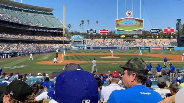 Dodger Stadium, secção: 10FD, fila: M, lugar: 4