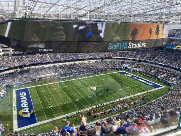 SoFi Stadium, secção: 510, fila: 1, lugar: 16