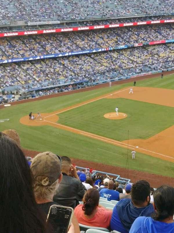 Dodger Stadium, secção: 28RS, fila: T, lugar: 19