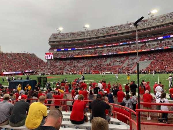 Memorial Stadium (Lincoln), secção: 22, fila: 4, lugar: 8