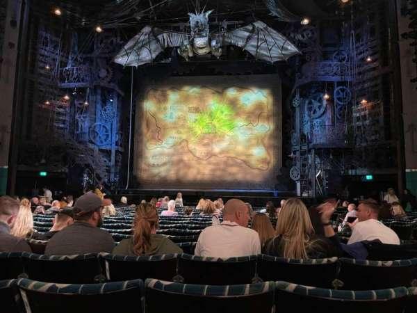 Apollo Victoria Theatre, secção: Stalls, fila: Q, lugar: 21