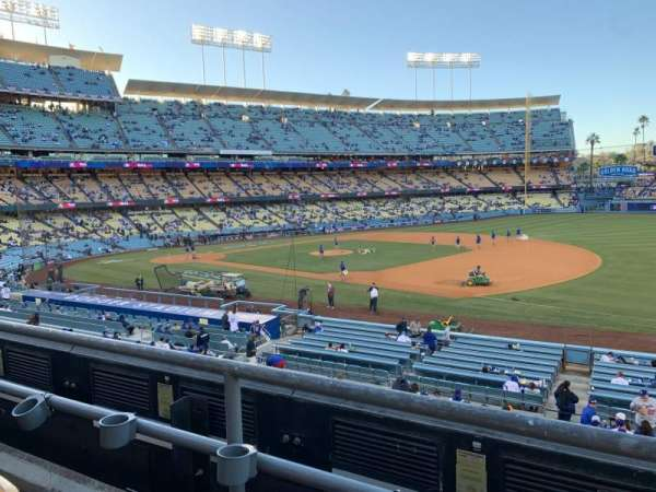 Dodger Stadium, secção: 144LG, fila: B, lugar: 8