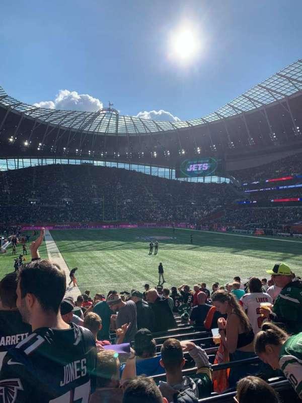 Tottenham Hotspur Stadium, secção: 114, fila: 17, lugar: 428