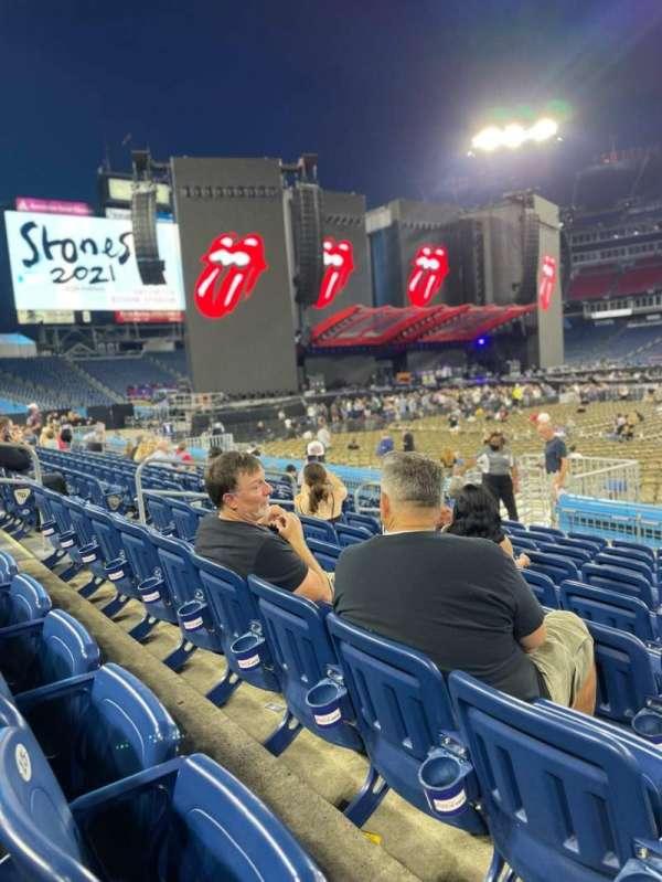 Nissan Stadium, secção: 134, fila: J, lugar: 13