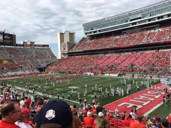 Ohio Stadium, secção: 12A, fila: 18, lugar: 17