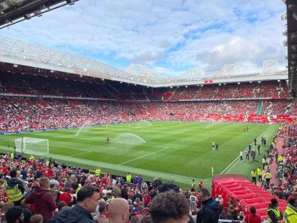 Old Trafford, secção: W209, fila: 31, lugar: 91
