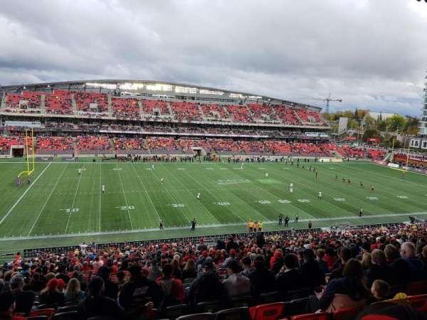 TD Place Stadium, secção: GG, fila: 10, lugar: 18
