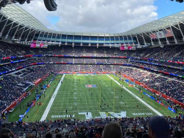 Tottenham Hotspur Stadium, secção: 453, fila: 64, lugar: 248