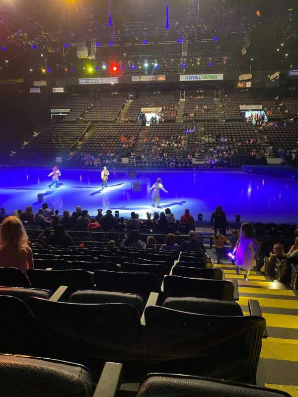 Royal Farms Arena, secção: 109, fila: K, lugar: 1