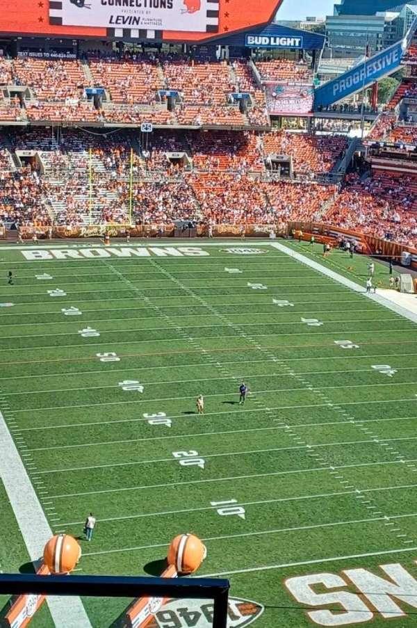 FirstEnergy Stadium, secção: 544, fila: 3, lugar: 24