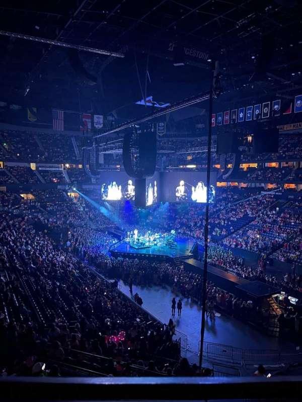 Bridgestone Arena, secção: 314, fila: A, lugar: 1