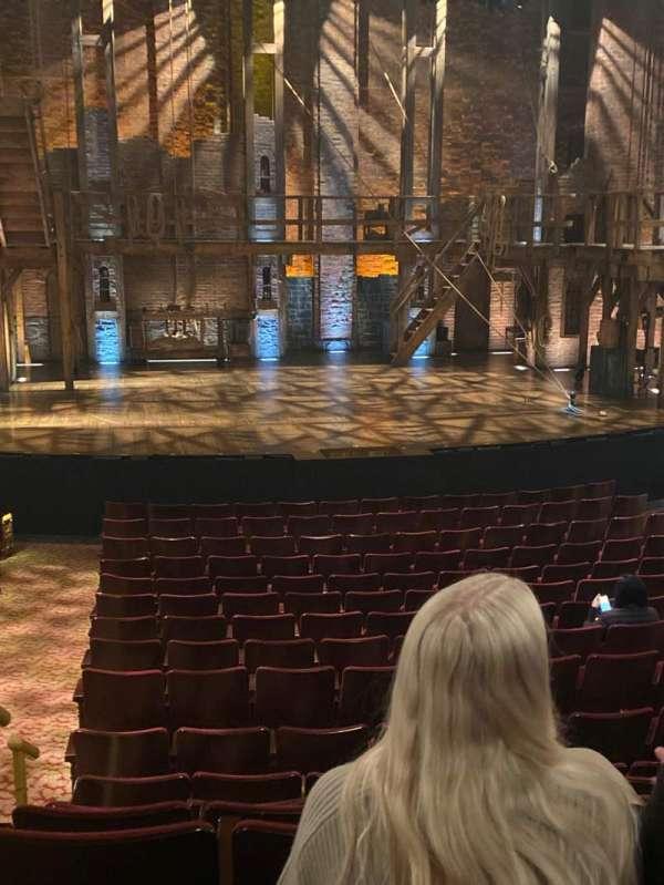 Richard Rodgers Theatre, secção: Center Mezz, fila: Q, lugar: 113