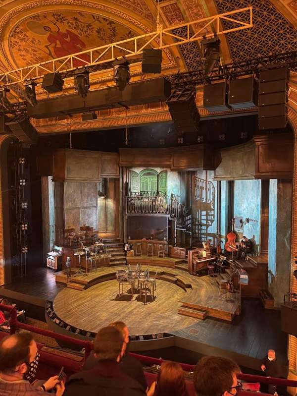 Walter Kerr Theatre, secção: Mezzanine, fila: D, lugar: 12