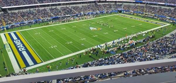 SoFi Stadium, secção: 344, fila: 1, lugar: 19