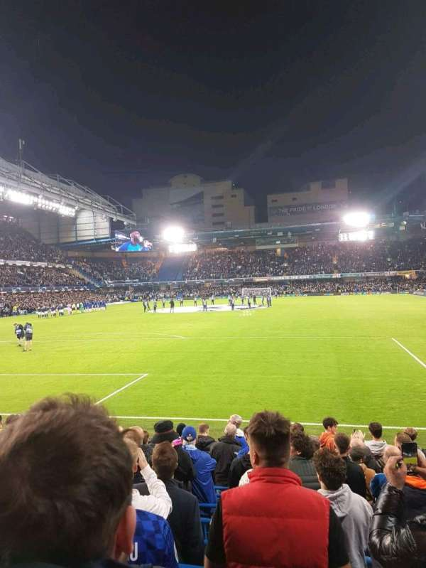 Stamford Bridge, secção: matthew harding lower, fila: m, lugar: 45