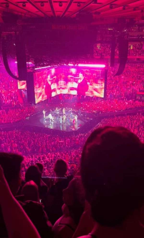 Madison Square Garden, secção: 223, fila: 9, lugar: 6