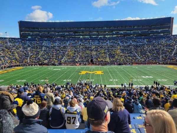 Michigan Stadium, secção: 23, fila: 52, lugar: 17