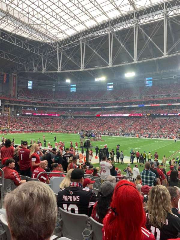 State Farm Stadium, secção: 105, fila: 15, lugar: 13