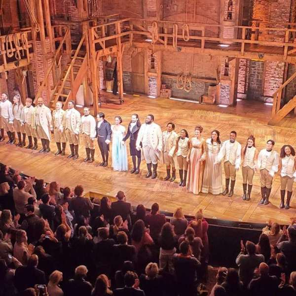 Richard Rodgers Theatre, secção: Front Mezzanine R, fila: A, lugar: 10