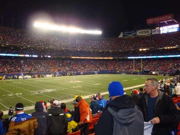 Old Giants Stadium, secção: 134, fila: 7