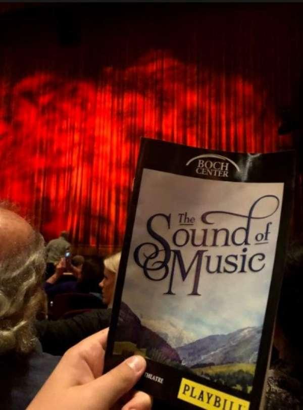 Wang Theatre, secção: Orchestra RC, fila: o
