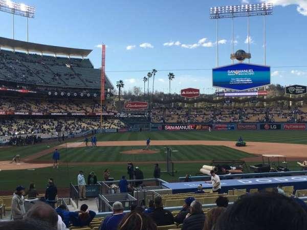Dodger Stadium, secção: 14FD, fila: S, lugar: 1