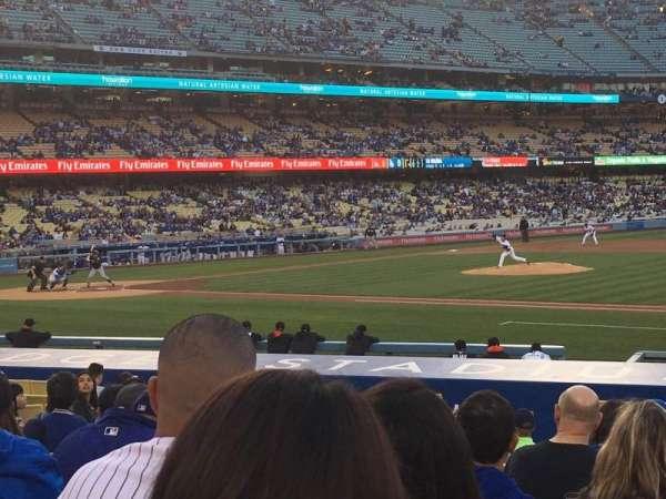 Dodger Stadium, secção: 24FD, fila: L, lugar: 3