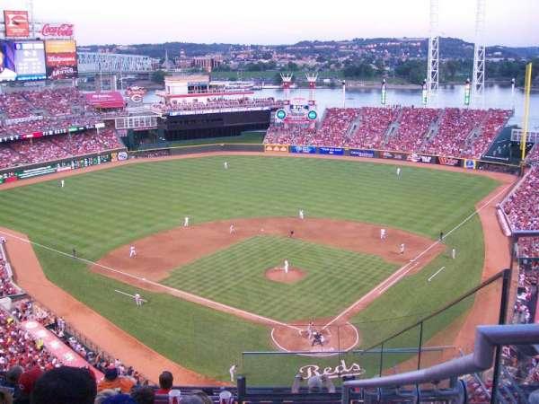 Great American Ball Park, secção: 522, fila: F, lugar: 4