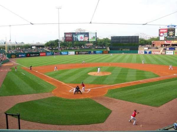 Louisville Slugger Field, secção: 214, fila: A, lugar: 5