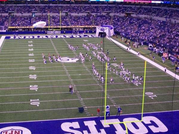 Lucas Oil Stadium, secção: 401, fila: 2, lugar: 13
